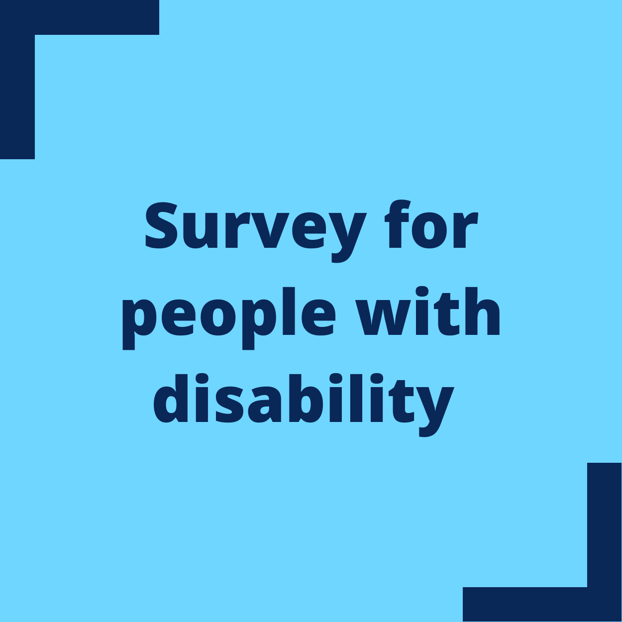 Survey for people with disability
